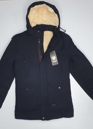Мужская зимняя куртка пуховик чоловічий на меху