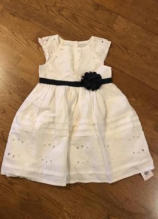 Платье с бантом  на 9-12 мес/ 80 см
