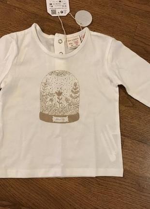 Реглан , футболка zara, на 9-12 мес