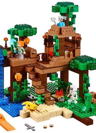 Конструктор Майнкрафт Bela 10471 Домик на дереве в джунглях , 718