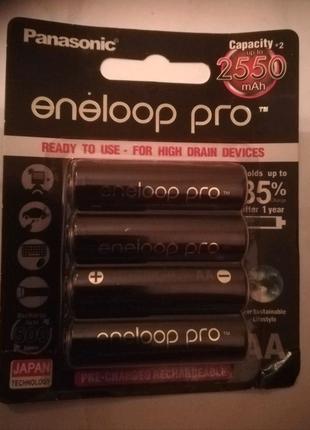 Оригинальный аккумулятор Panasonic Eneloop Pro AA  255