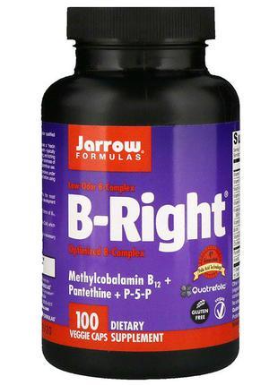 Витамины группы В  Jarrow Formulas B-Right  100 вегетарианских ка