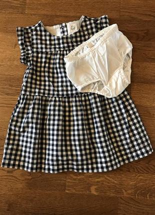 Платье с трусиками ( комплект) gap, на 18-24 мес