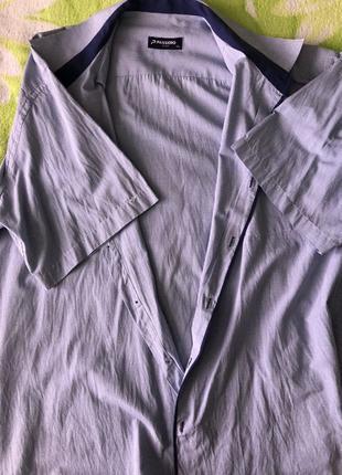 Фирменная рубашка в клетку 4XL