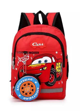 Детский рюкзак Тачки и кошелек,  новый