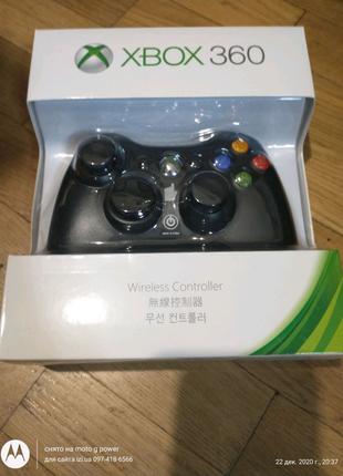 Джойстик беспроводной геймпад xbox 360 черный / белый