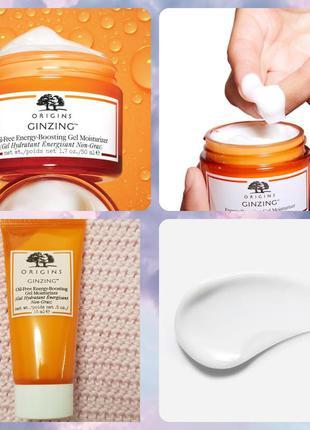 Origins ginzing oil-free energy boosting gel moisturizer увлаж...