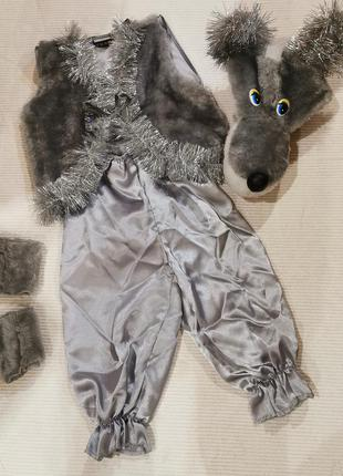 Новогодний детский костюм волка