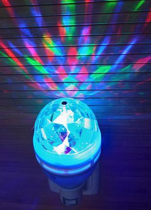 Мини диско шар, лазерная лампа, светодиодная лампочка проектор
