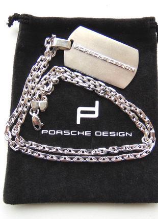 Серебряная подвеска на цепочке в стиле Porsche Design эксклюзив