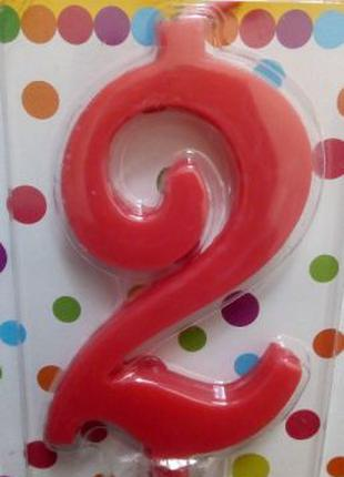 Свечка на День Рождение, свеча-цифра в торт