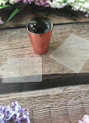 Силиконовый штамп + скрапер с узорами + пластина для стемпинга...