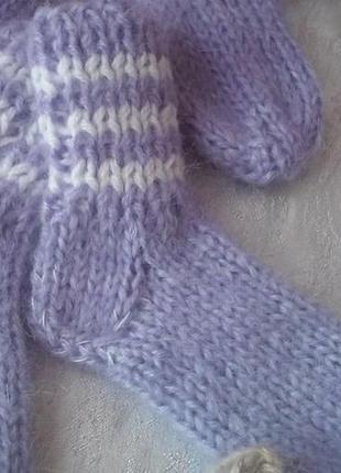 Носки ангоровые теплые качественные для всей семьи, ручная вязка.