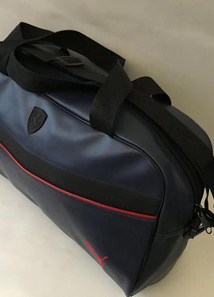 Спортивная дорожная сумка из плотной экокожи