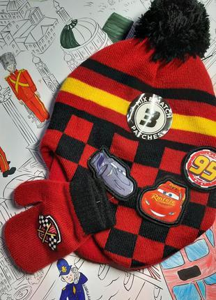 Комплект шапочка на флисе и варежки