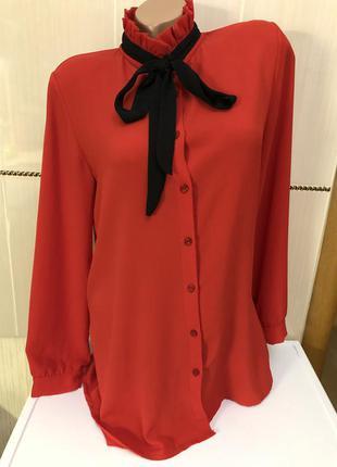Красная удлинённая рубашка италия