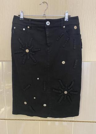Джинсовая юбка карандаш moschino