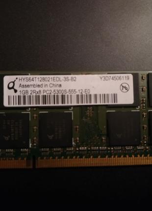 Оперативная память 1Gb DDR2 SO-DIMM