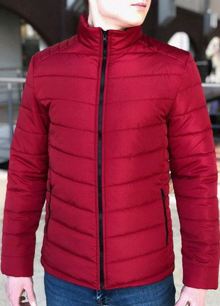 Чоловіча Весняна куртка пуховик (Осінь) червона