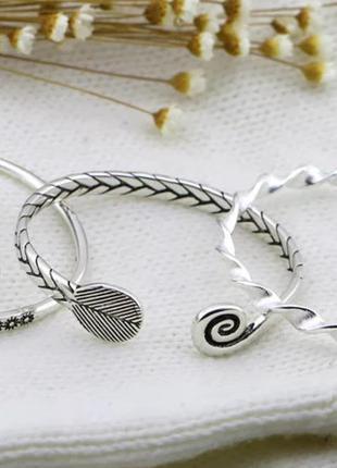 Стильный крутой серебряный браслет s925