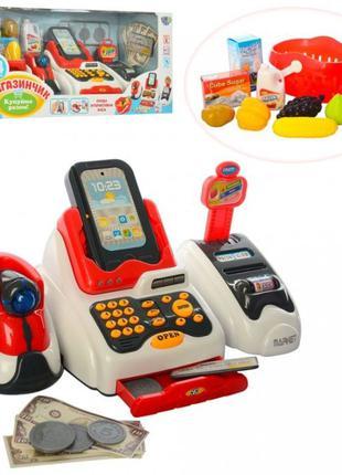 Детский кассовый аппарат. Магазин, сканер, терминал