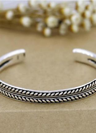 Стильный серебряный браслет s925 унисекс