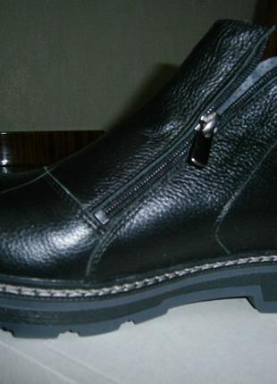 Новые Кожаные Ортопедические Черные Мужские Ботинки 42р