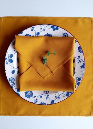 Салфетки (3 шт) для сервировки стола, карри