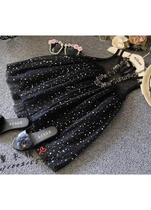 Платье детское черное
