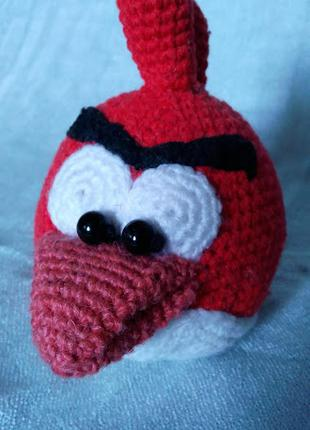 Вязаная игрушка Птица Red из angry birds