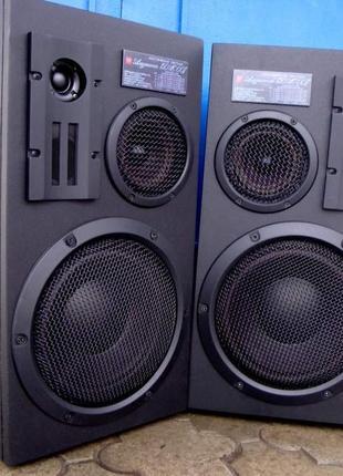Шикарные Колонки Амфитон 150АС-007 Апгрейд Black 8 Ом