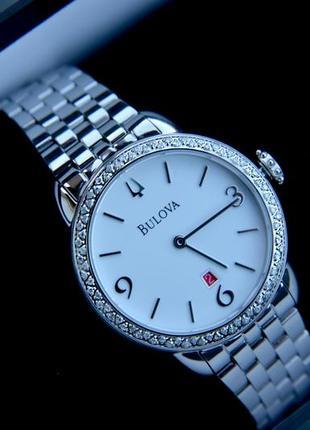 Бриллианты! роскошные женские часы с бриллиантами bulova diamo...
