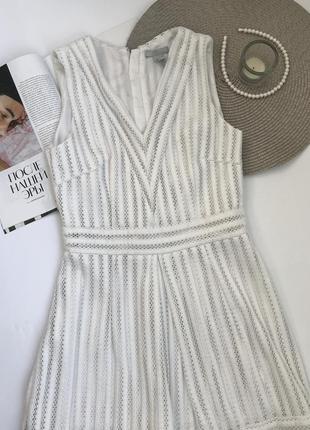 Белое платье h&m вечернее / новогоднее