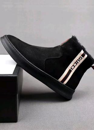 Ботинки Gucci Winter Web Stripe Black
