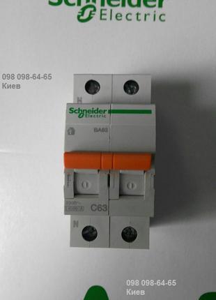 Автоматический Выключатель Schneider ВА63 1П+Н 63A C