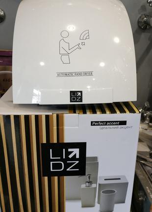 Сушилка для рук электрическая 1800 W Lidz белая сушарка для рук