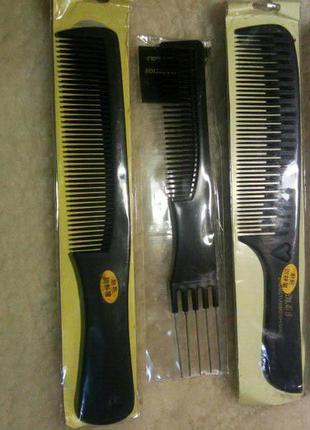 Расчески для парикмахера 4 штуки.