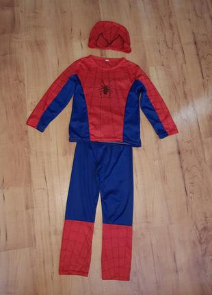 Карнавальный костюм супергероя спайдермен человек паук