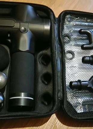 Мощный перкусионный массажёр-пистолет ударного типа