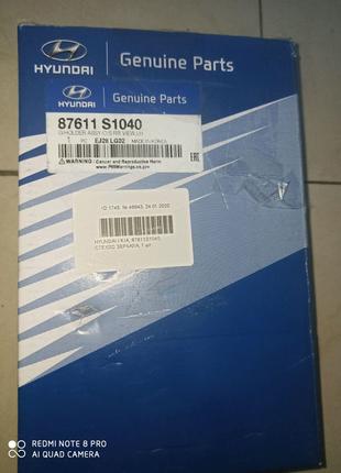 87611S1040 элемент зеркала Hyundai Santa Fe 2018-