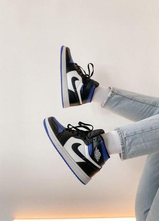 Nike jordan 1 retro high black blue white