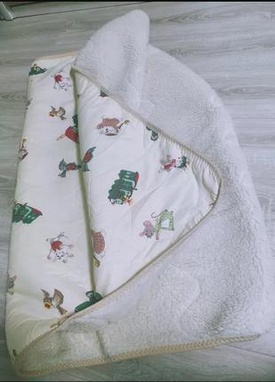Одеяло шерсть хутро ковдра 140*105 теплое