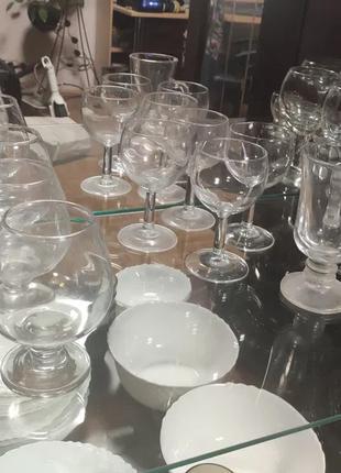 Бокалы коньячные рюмки фужеры стаканы мартини