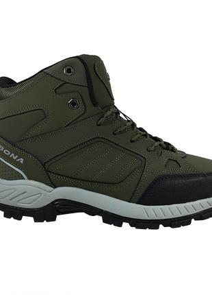 Мужские Ботинки Bona 778B-6 нубук хаки