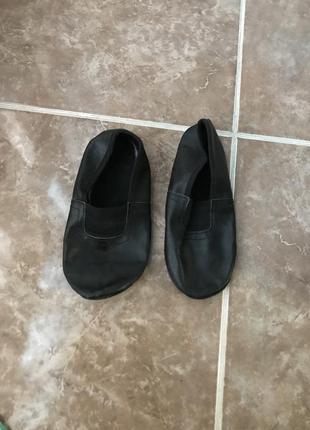 Детские чёрные чешки 18 см обувь для танцев балетки для гимнас...