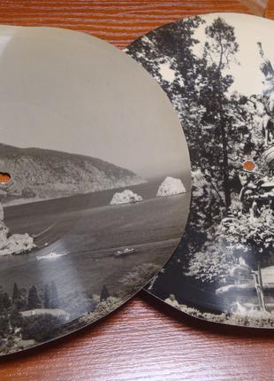 2 пластинки Фотозвуковой лист. с фотографиями Крыма.