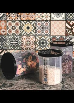Бочонок контейнер для хранения крупы пищевых сыпучих продуктов...