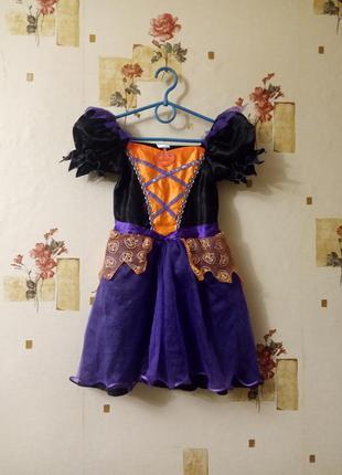 Платье ведьмочки на хеллоуин тыква костюм