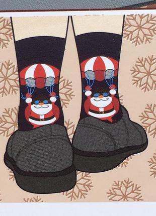 Новогодние рождественские носки носочки в подарочной упаковке ...
