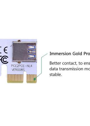 Переходник PCI-E 1X – USB PCE2PCE-NL4 ver008S для райзера